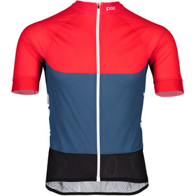 POC Essential Road Maillot léger Homme, lead blue/prismane red